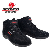 2018 Spring Summer New SCOYCO Motocross Motorcycle Boots ventilate Knight Riding Shoes Breathable Mesh motorbike boot Reflective