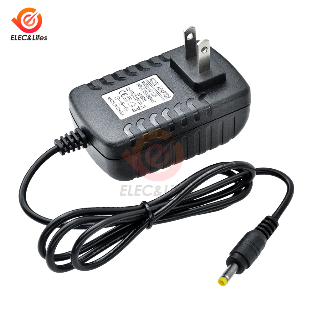 100-240V <font><b>AC</b></font> To <font><b>DC</b></font> <font><b>12V</b></font> <font><b>2A</b></font> Power Adapter Supply Charger <font><b>adaptor</b></font> EU US Standard Plug 4.0mm*1.7mm for Switching LED Strip Light Lamp image