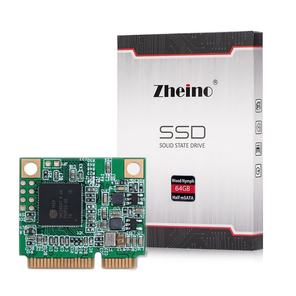 Zheino New  mSATA Half Size 64GB SSD mini PCIe SATA III HF 64gb Solid State Drives for laptop zheino q1 msata sata iii 6gb s ssd 60gb ssd solid state drive mlc flash storage devices disk for desktoo laptop