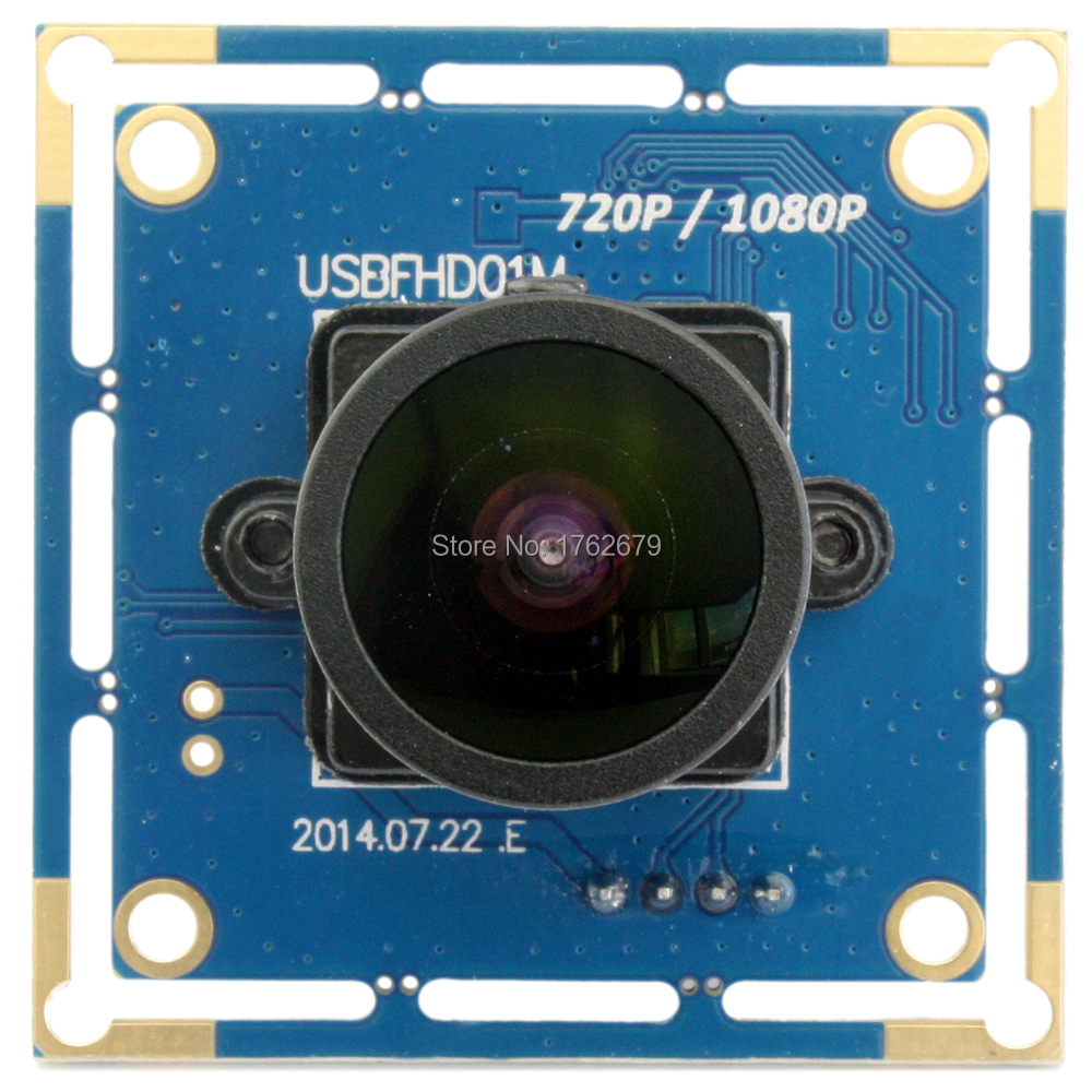 170 degree wide angle 2megapixel 1080p/720p/480p mjpeg 30fps/60fps/120fps cmos fisheye wide angle usb webcam board все цены
