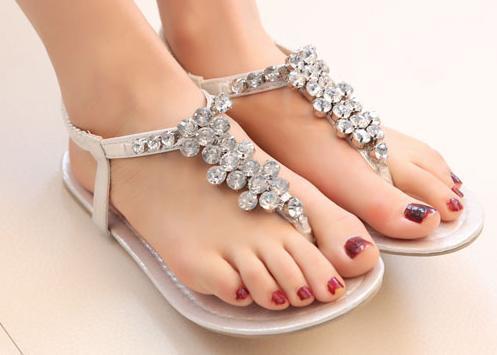 35 Free Shipping Rhinestone Flops In Silver Us9 Sandals Women's 99women's 2015 Colors Eur 39 Gold Size Flip Summer Women Bohemia Fashion W9IYeE2DH