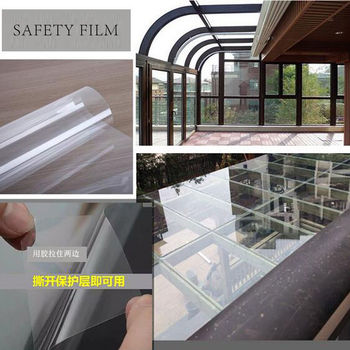 100FT 4mil/0.1mm Clear Safety Security Car Sun Shade Window Tint Film Anti Shatter Glass Protection for Glass Window Doors Vinyl