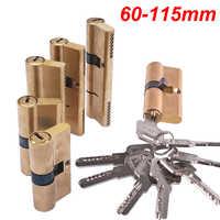 Zylinder AB Schlüssel Anti-Theft Lock 65 70 80 90 115mm Zylinder Vorgespannt Schloss Eingang Messing Türschloss verlängert Core Erweiterte Schlüssel