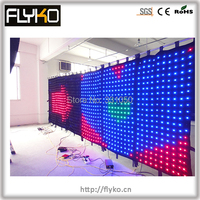 Controller SD P100 2x6 m china sexy video tenda led video cortina led display a parete calda vide