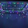 1X1.5 M Droop 0.25 ~ 0.65 m 10 Corazones Románticos Cortina de luz Led String de Hadas de Luz Para Navidad Lámpara de Casa Decoración Del Partido