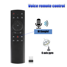 G20 Voice Remote Control 2.4G Wireless Mini Kyeboard Air Mouse with Microphone IR Learning for Android TV Box 8.1/X96/H96 PK W1(China)