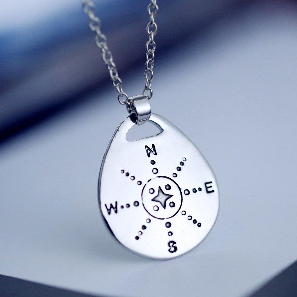 Кулон Цепочки и ожерелья для Для мужчин Для женщин подарки Ювелирные изделия Ожерелья для мужчин серебряные украшения Компасы