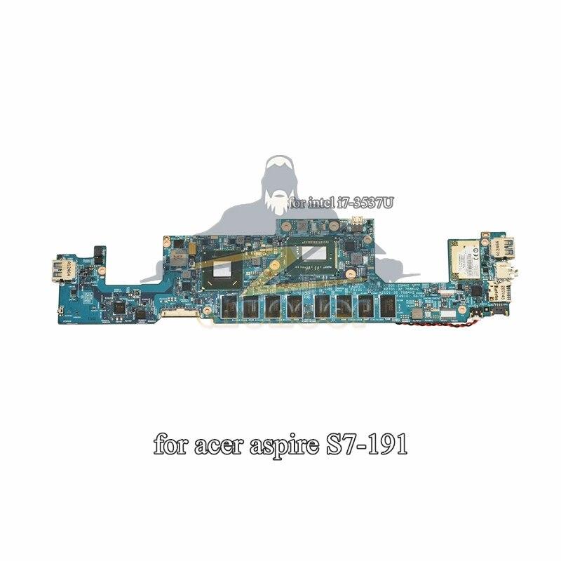 NB. M3G11.002 NBM3G11002 48.4WD04.02N pour acer aspire S7-191 carte mère d'ordinateur portable i7-3537U HM77 GMA HD4000 4 GB ram à bord