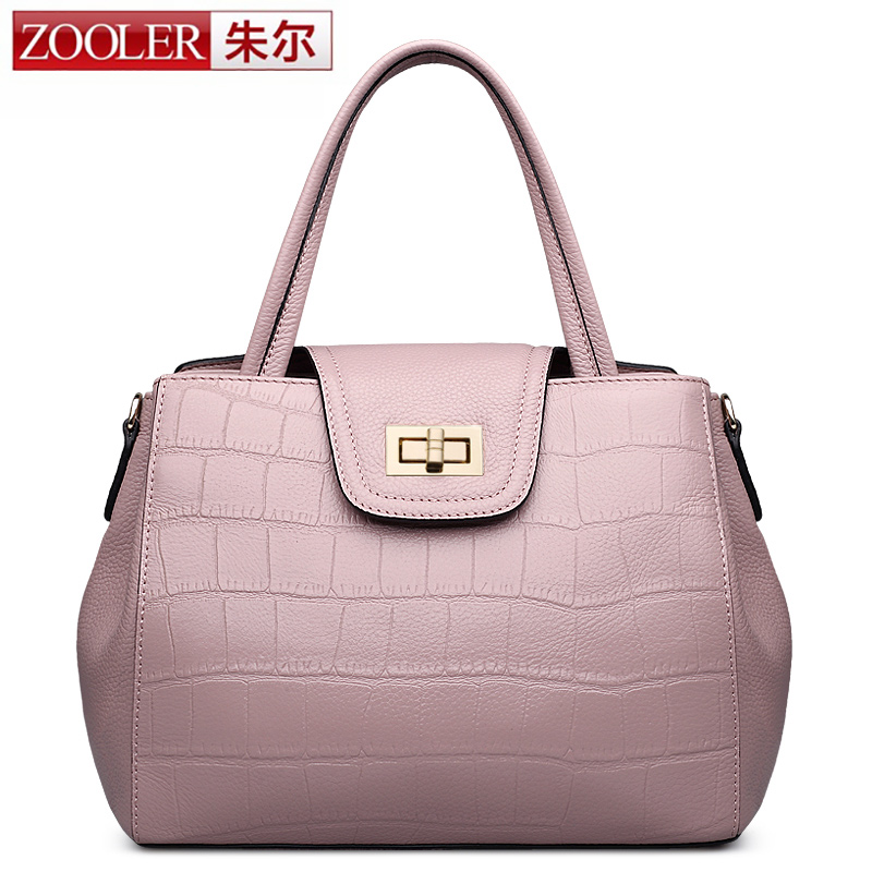 2017 New ZOOLER genuine leather  bags ladies bag famous brands women bag 2017 new OL women handbags Shoulder Bag simply  #1203