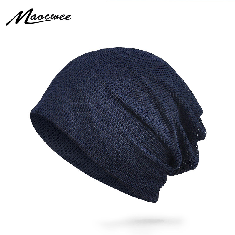 MAOCWEE Stylish breathable thin sun hat Man woman's hats   Beanies   Spring and summer outdoor sunscreen hats Solid color mesh cap