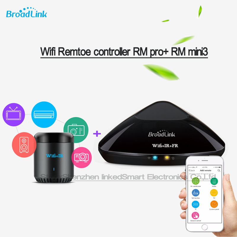 BroadLink smart home wifi remote control appliances learning remote kit RM pro / black beans RM mini3 Samrt controller by phone