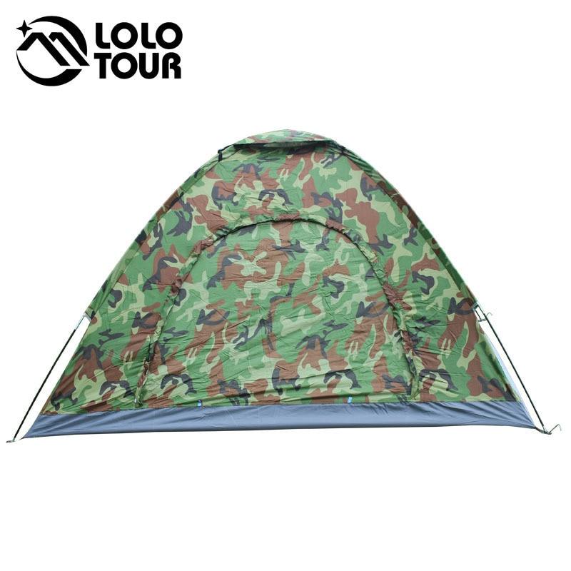 4 személyes terepszínű kemping sátor tengerparti turisztikai - Kemping és túrázás