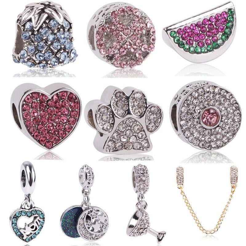Original Beads: Ranqin Fit Pandora Charms Original Bracelet Spacer Charm