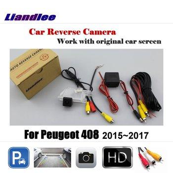 Liandlee For Peugeot 408 2015~2017 Screen / Car Rear View Rearview Camera Back Backup Reverse Reversing Parking
