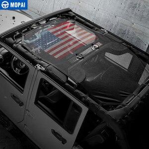 Image 3 - MOPAI 4 Porta Auto Tetto del Bikini Della Maglia Top Parasole Copertura UV Sun Ombra Maglia per Jeep Wrangler JK 2007 2017 Accessori auto Styling