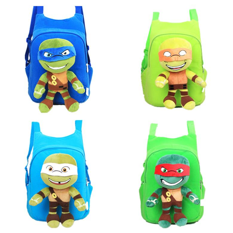 Small Children Creative Turtle Bag Plush 3D Stereo Backpack Christmas Gift Kindergarten Small Bag Cartoon Anime Ninja Turtle