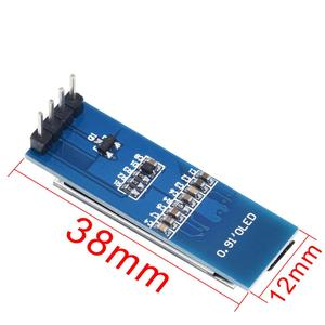 """Image 4 - 0.91 بوصة OLED وحدة 0.91 """"أبيض/أزرق OLED 128X32 OLED شاشة LCD LED وحدة 0.91"""" IIC التواصل ل ardunio"""