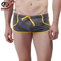 Gay Shorts  Bain Men Marque Slim Men Swimsuit Boxer Low Waist Beach Sea Pouch Penis Deniz Shorts