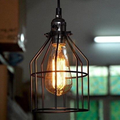 ФОТО 60W Retro Loft Style Vintage Lamp Industrial Lighting Pendant Lights with Metal Lamoshade Edison Lamparas Colgantes
