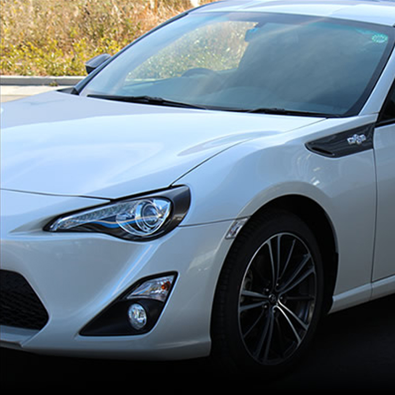 Carbon Fiber Front Headlight Eyelid Covers Trim Eyebrows For Toyota GT86 Subaru BRZ