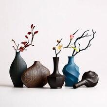 New Europe Style Vases Retro brickware terra-cotta Ceramic Modern Tabletop Flower Vase for Home Decoration цена 2017