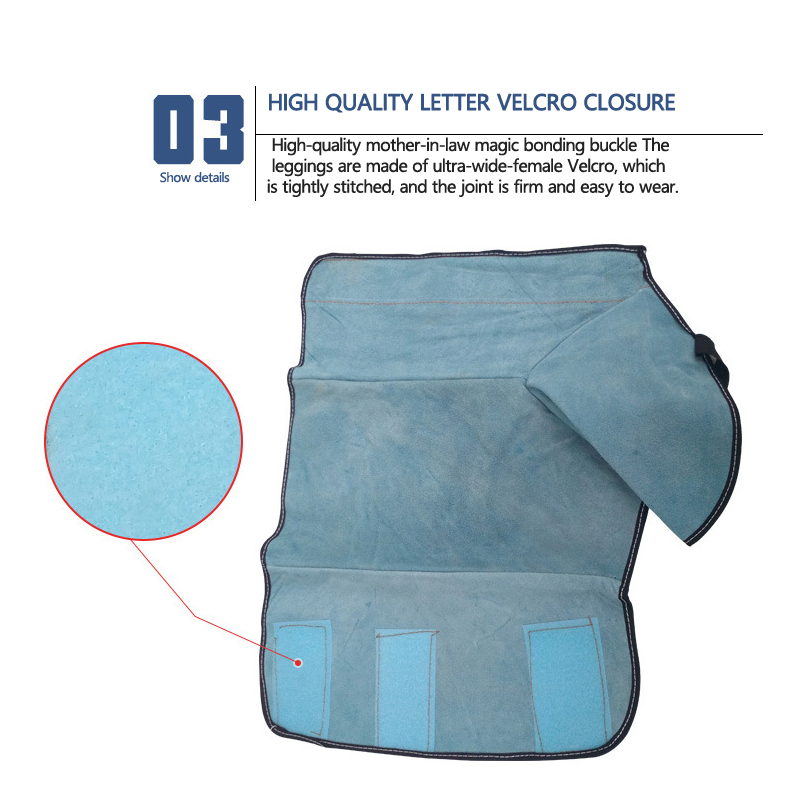 Electric welding fire Anti-Cut High Temperature protection Fire-Proof foot leggings welder foot protection cover wear insulation
