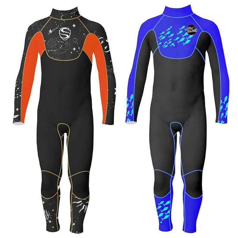 Slinx Uzun kollu Erkek 3mm Neopren dalgıç kıyafeti Wetsuit Tam vücut Kış sıcak Mayo Çocuklar için Sörf Yüzme su Sporları