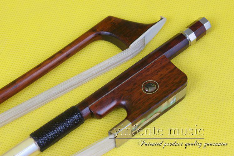 1  pcs 4/4 cello Bow High Quality    snakewood    DS-58#  EYE inlay violin bow 4 4 snake wood straight pretty inlay fr og high quality 11 dot inlay flower white horse hair