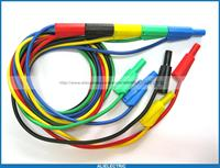 25 Pcs Safety Protection Banana Plug Silicone Cable High Voltage 5 Colors
