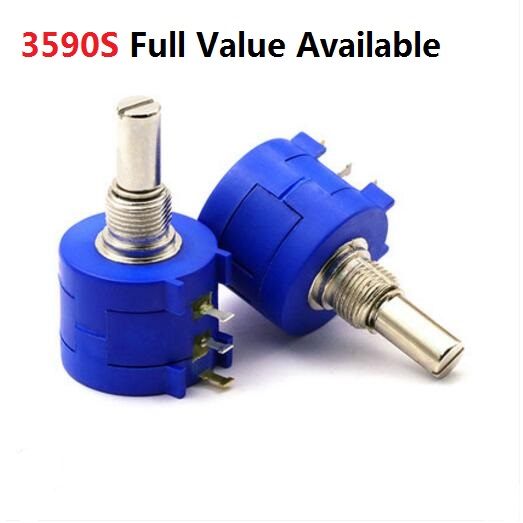 1PC 3590S-2-103/104/503/101/201/501/102/202/502/203/ 1K 2K 5K 10K 20K 50K 100K 100R 200R 500R Precision Multi Turn Potentiometer