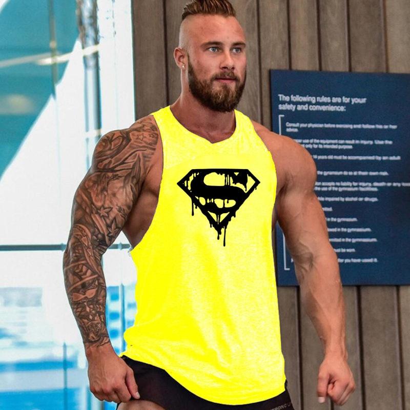 Running Vest Gym Fitness Muscle Mens Bodybuilding Tank Tops Fitness Muscle Guys Sports Tank Top Men Sleeveless Summer Tshirt
