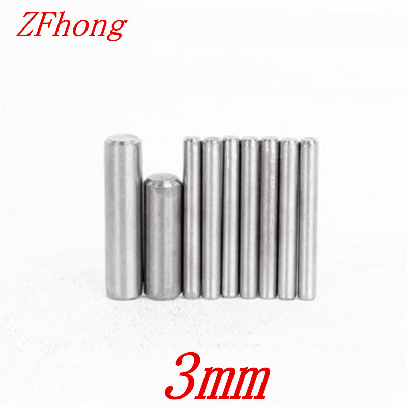 200pcs Diameter M3*5/6/8/10/12/16/20/25/30/5/40 3mm Stainless Steel Dowel Pin Location Pin Stop Pin Length 3mm To 10mm