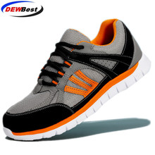 New dewbest breathable safety shoes mens Lightweight summer anti smashing piercing work sandals Single mesh sneakers 35 46 d9