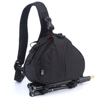 Free Shipping Black NEW Fashion Casual DSLR Camera Bag Waterproof Backpack Shoulder Bag For Canon Nikon