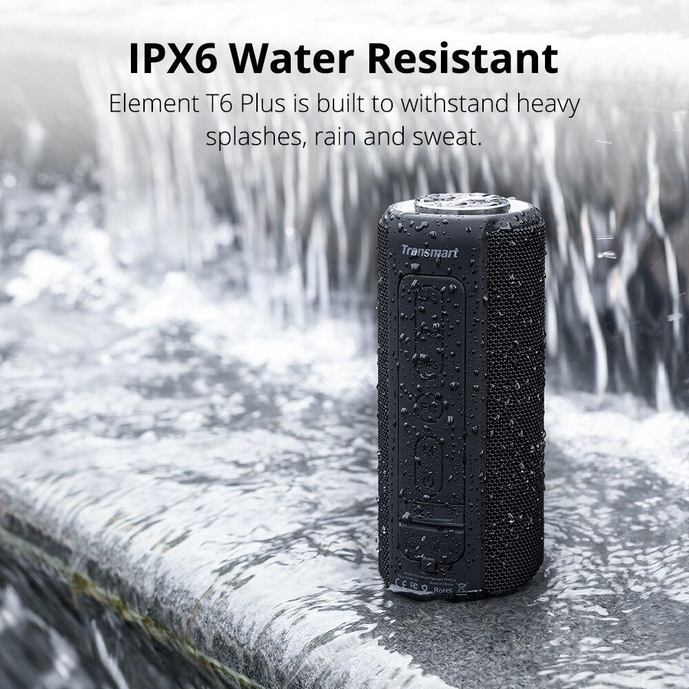 Tronsmart T6 Plus Bluetooth Speaker 40W Portable Speaker Deep Bass Soundbar with IPX6 Waterproof, Power Bank Function SoundPulse 4