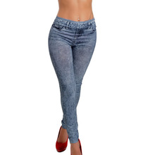 Higt Quality  2015 TOP SALE New Fashion Denim Jeans Women Girl Sexy Leggings Jeggings Skinny Denim Pants Black Blue
