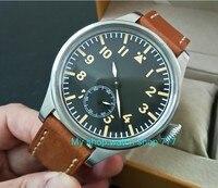 55 mm very big dial PARNIS Asian 6498 Mechanical Hand Wind Mechanical movement men watches Mechanical watches DF354a