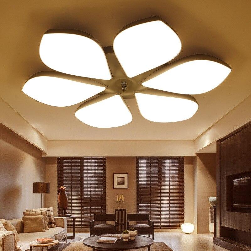 Fleur forme plafonnier pétale plafonnier mode plafonnier pour salon chambre abajur led lampe économiseuse d'énergie