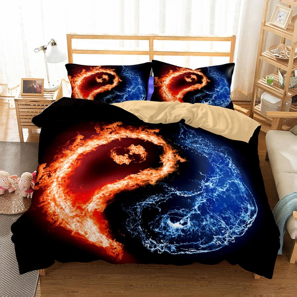Yin Yang Blance Bedding Set 3D Print Duvet Cover Set Boys Girls Bed Linen Set With Pillowcase Twin Full Queen King Bedclothes