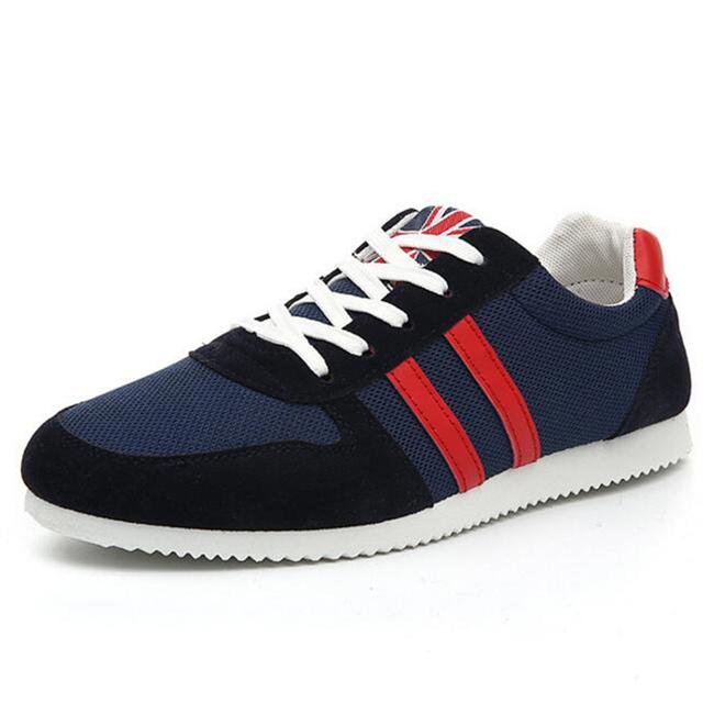 Mens Formadores Calçados Casuais 2016 Novos sapatos Respirável Verão Sapatos Para Homem Sapatos de Caminhada Ocasional Respirável Net Sapatos Mens