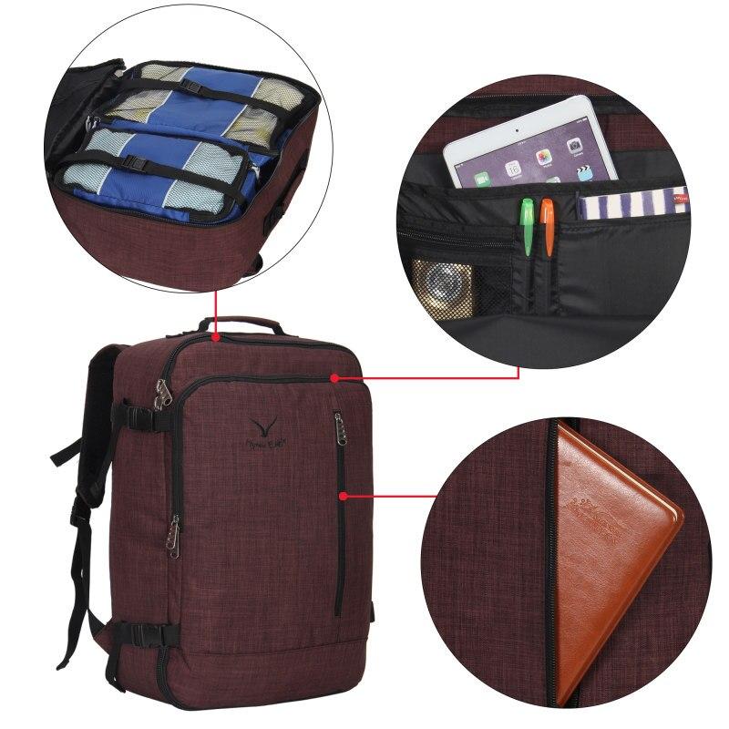 M272 Vintage Canvas Lederen Rugzakken voor Mannen Laptop Daypacks Waterdichte Canvas Rugzakken Grote Waxed Bergbeklimmen Travel Pack - 3