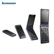 Оригинальные Lenovo MA388 Flip сотовый телефон dual sim двойной длительным временем ожидания MTK6250 3.5 дюймов Экран прочный старший детей мобильного аудиоразъем