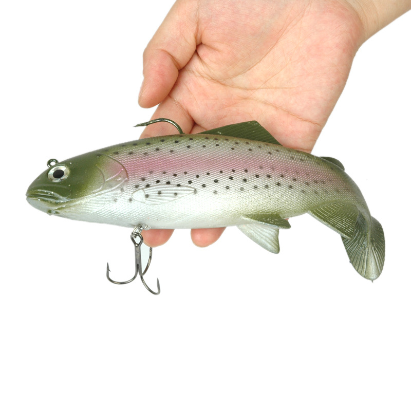Image 3 - 1Pcs Big weight Lead Soft Baits Jig Fishing Lure Fish Sea Fishing Tackle Saltwater Wobbler Fake bait Isca Artificial 137g 19cm-in Fishing Lures from Sports & Entertainment