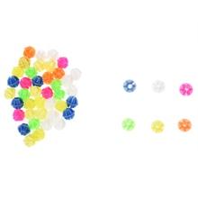 1 упаковка Многоцветный пластиковый орнамент из бисера для спицы велосипеда