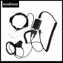 FBI Heavy Duty Tactical Military throat mic Headset for Vertex EVX530 EVX531 EVX539 EVX534 VX428 VX429 VX454 VX459 VX351