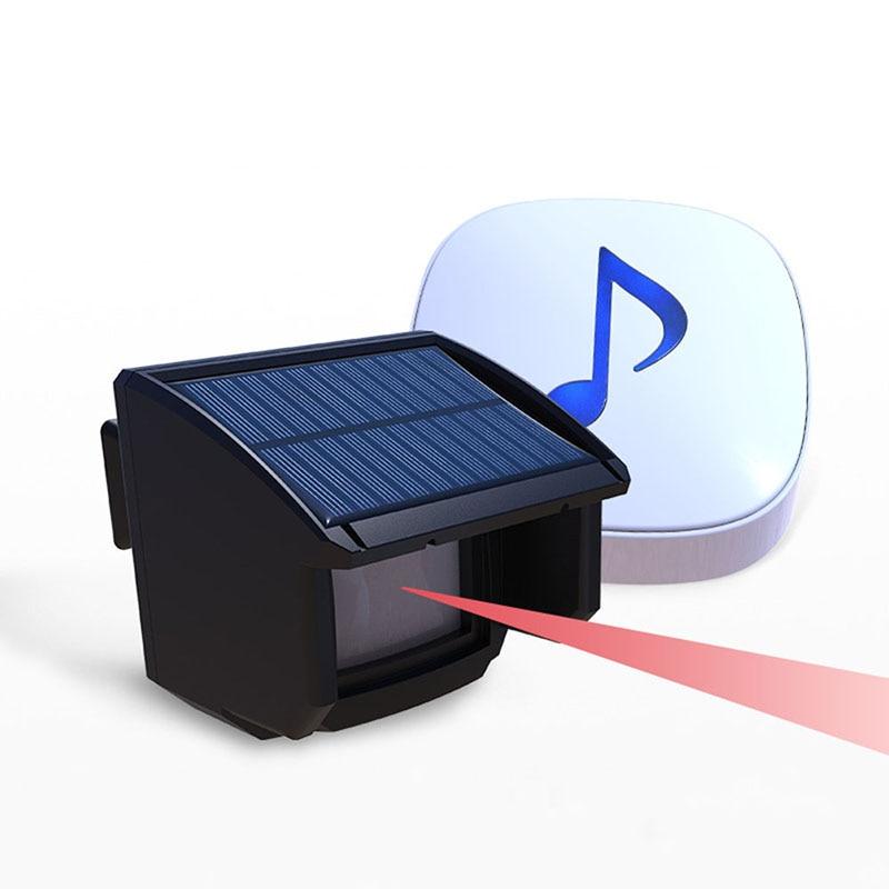 Solar outdoor wireless alarm system DIY aisle alarm infrared detector passive infrared probe PIRSolar outdoor wireless alarm system DIY aisle alarm infrared detector passive infrared probe PIR