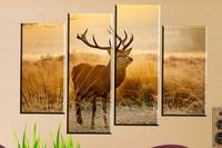 Modern Fashion Newes Printed Canvas Painting Animal Deer Such Cute In Life Wall Art Home Decoration Printed Pictures