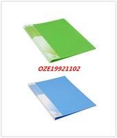 1ピースブルーグリーンピンクorangeプラスチックシングルレバークリップ紙ファイルフォルダsz a4