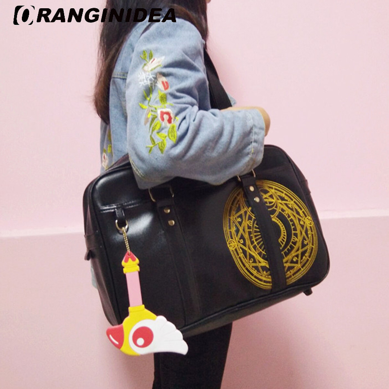 Women Shoulder Bag Lady Fashion Large Capacity Handbags with Acessories Female Black Tote Bags Teenager Girl Travel Uniform Bag