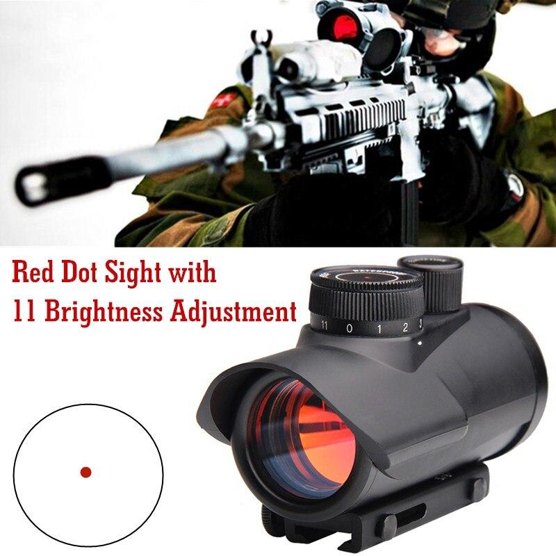 Tactique de Chasse Holographique 1x30mm Red Dot Sight Portée 11mm & 20mm Weaver Rail Mount HT5-0040